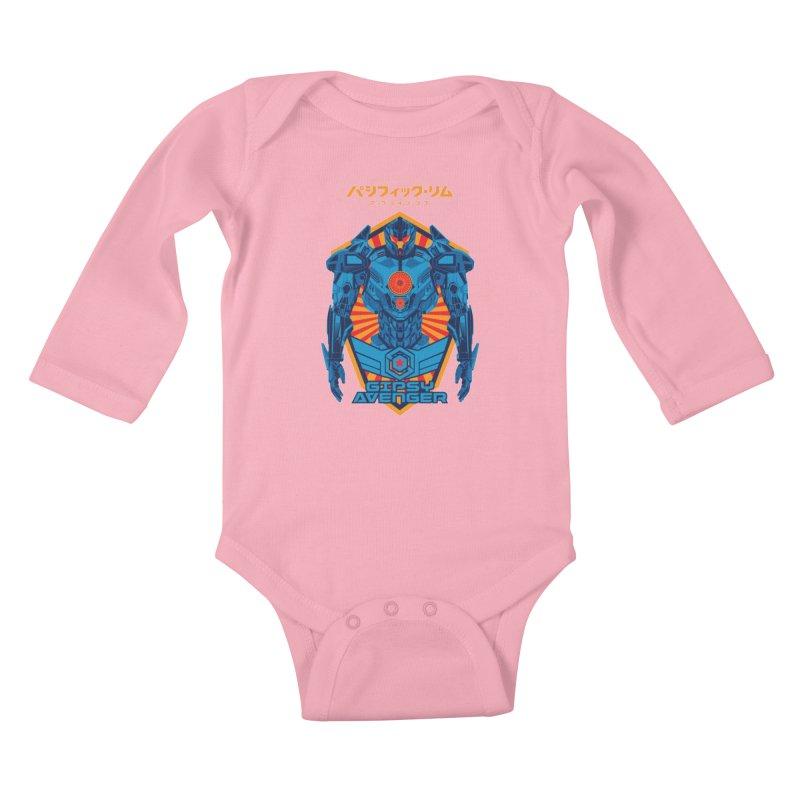 PACIFIC RIM UPRISING Kids Baby Longsleeve Bodysuit by ALGS's Artist Shop
