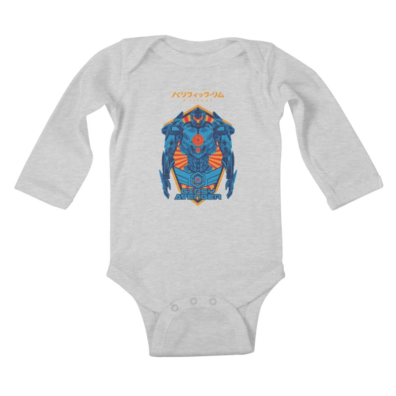 PACIFIC RIM UPRISING Kids Baby Longsleeve Bodysuit by ALGS's Artist Shop