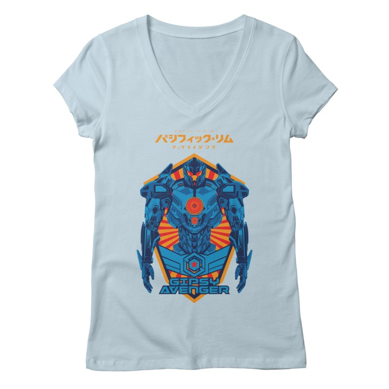 PACIFIC RIM UPRISING Women's Regular V-Neck by ALGS's Artist Shop