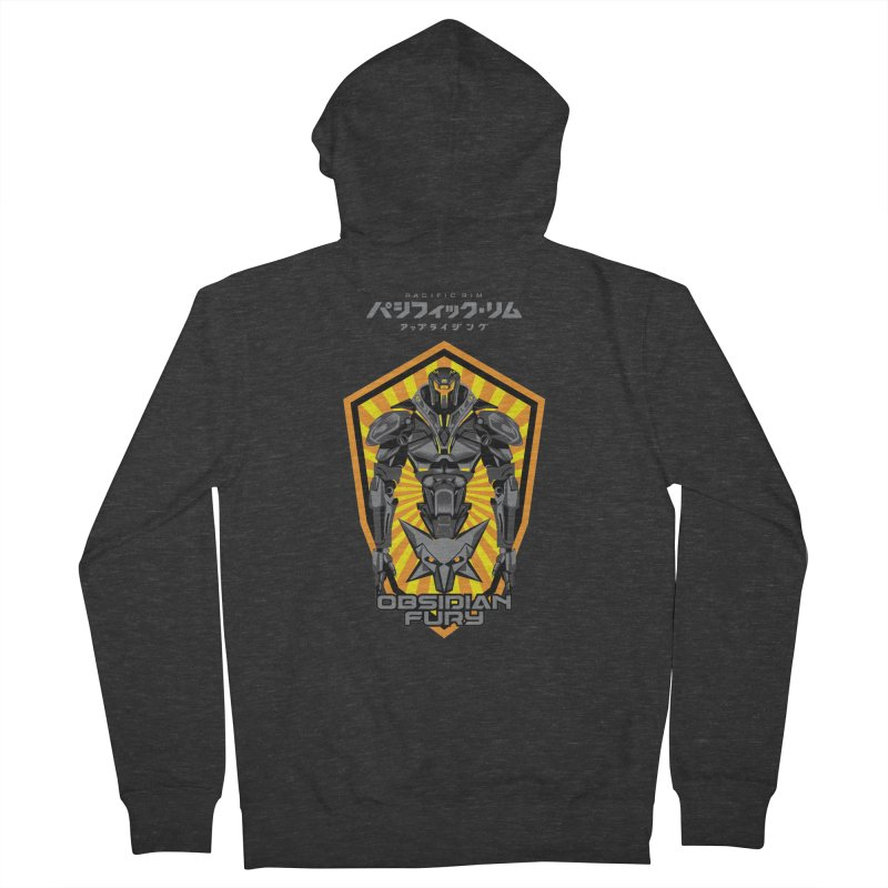 PACIFIC RIM : OBSIDIAN FURY JAEGER Men's French Terry Zip-Up Hoody by ALGS's Artist Shop