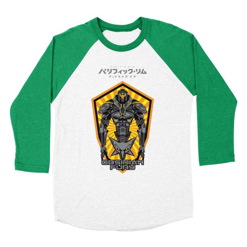 PACIFIC RIM : OBSIDIAN FURY JAEGER Women's Baseball Triblend Longsleeve T-Shirt by ALGS's Artist Shop
