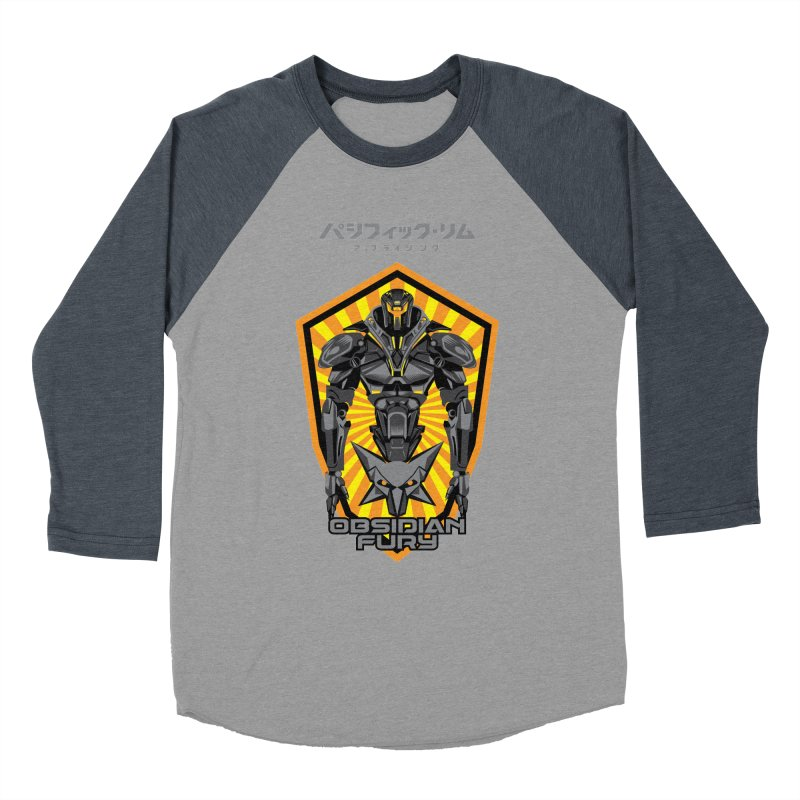 PACIFIC RIM : OBSIDIAN FURY JAEGER Men's Baseball Triblend Longsleeve T-Shirt by ALGS's Artist Shop