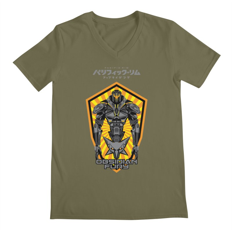 PACIFIC RIM : OBSIDIAN FURY JAEGER Men's V-Neck by ALGS's Artist Shop