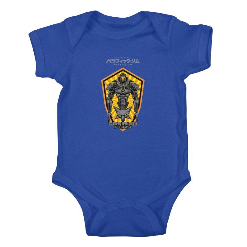 PACIFIC RIM : OBSIDIAN FURY JAEGER Kids Baby Bodysuit by ALGS's Artist Shop