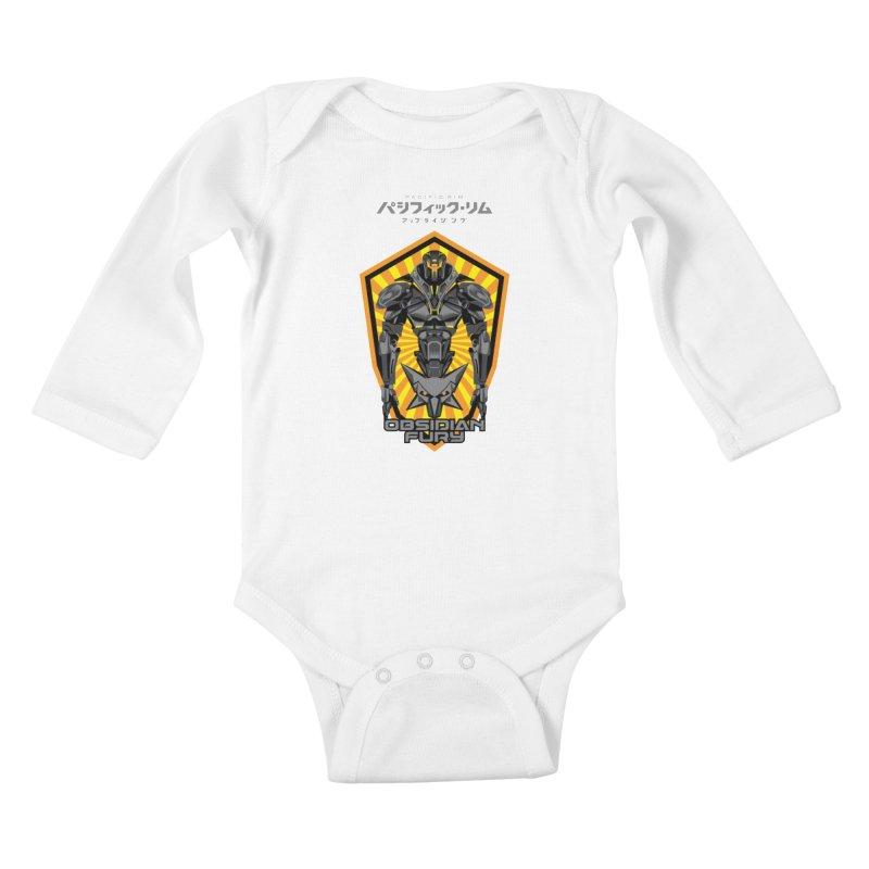 PACIFIC RIM : OBSIDIAN FURY JAEGER Kids Baby Longsleeve Bodysuit by ALGS's Artist Shop