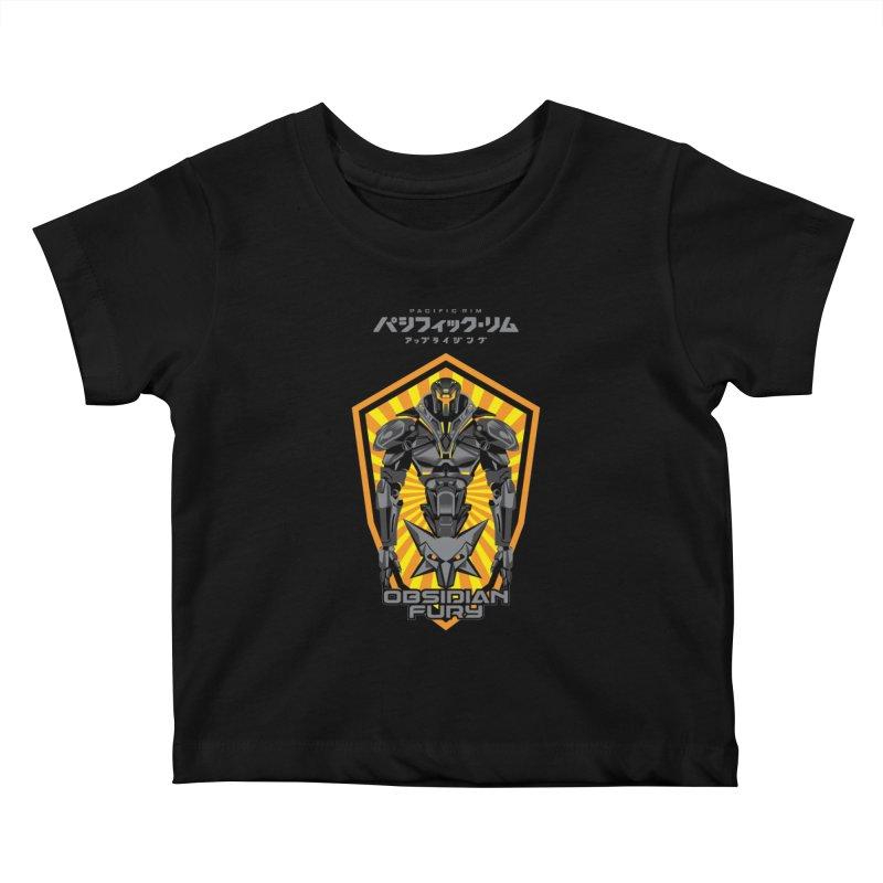 PACIFIC RIM : OBSIDIAN FURY JAEGER Kids Baby T-Shirt by ALGS's Artist Shop