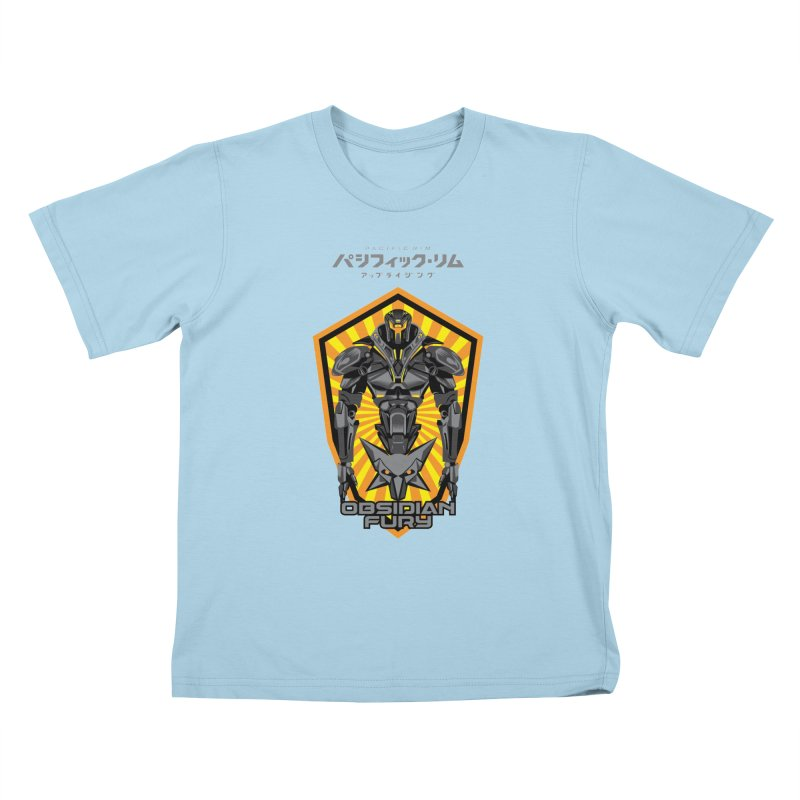 PACIFIC RIM : OBSIDIAN FURY JAEGER Kids T-Shirt by ALGS's Artist Shop