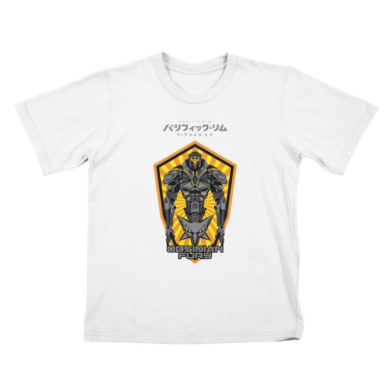 PACIFIC RIM : OBSIDIAN FURY JAEGER Kids T-Shirt by ALGS's Artist Shop