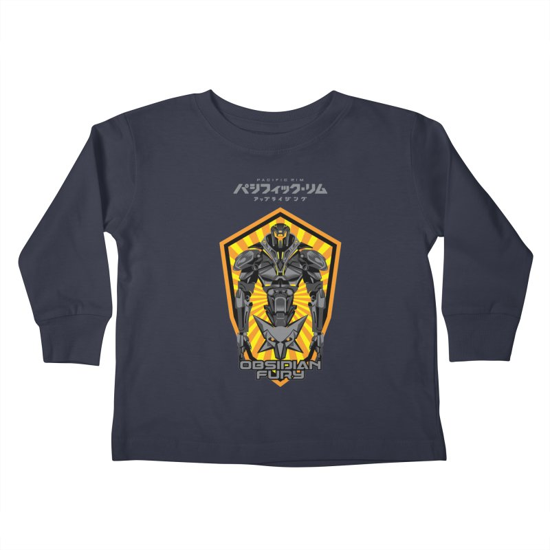 PACIFIC RIM : OBSIDIAN FURY JAEGER Kids Toddler Longsleeve T-Shirt by ALGS's Artist Shop