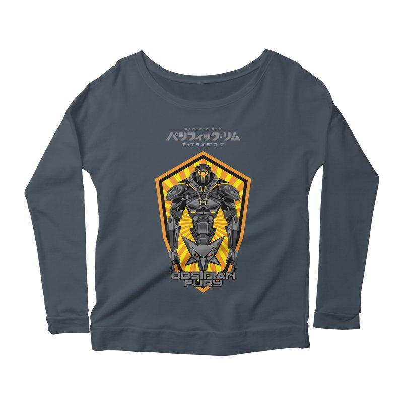 PACIFIC RIM : OBSIDIAN FURY JAEGER Women's Scoop Neck Longsleeve T-Shirt by ALGS's Artist Shop
