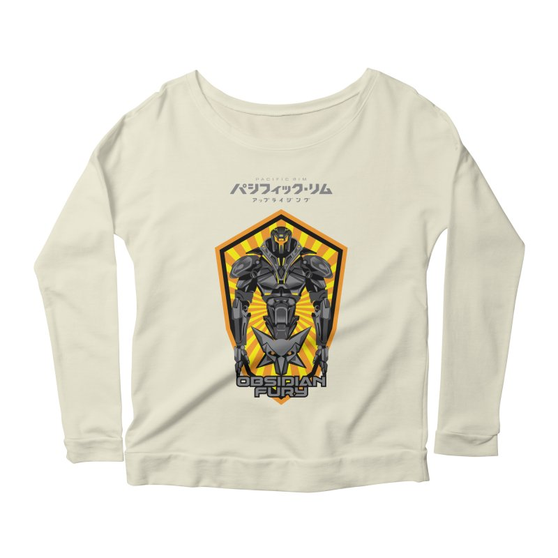 PACIFIC RIM : OBSIDIAN FURY JAEGER Women's Scoop Neck Longsleeve T-Shirt by ALGS's Artist Shop