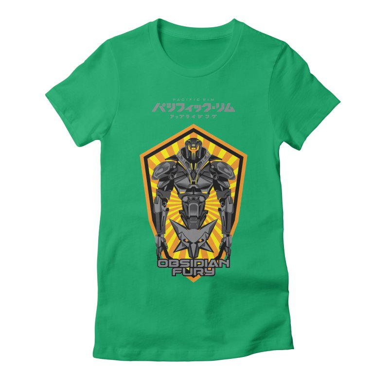 PACIFIC RIM : OBSIDIAN FURY JAEGER Women's Fitted T-Shirt by ALGS's Artist Shop
