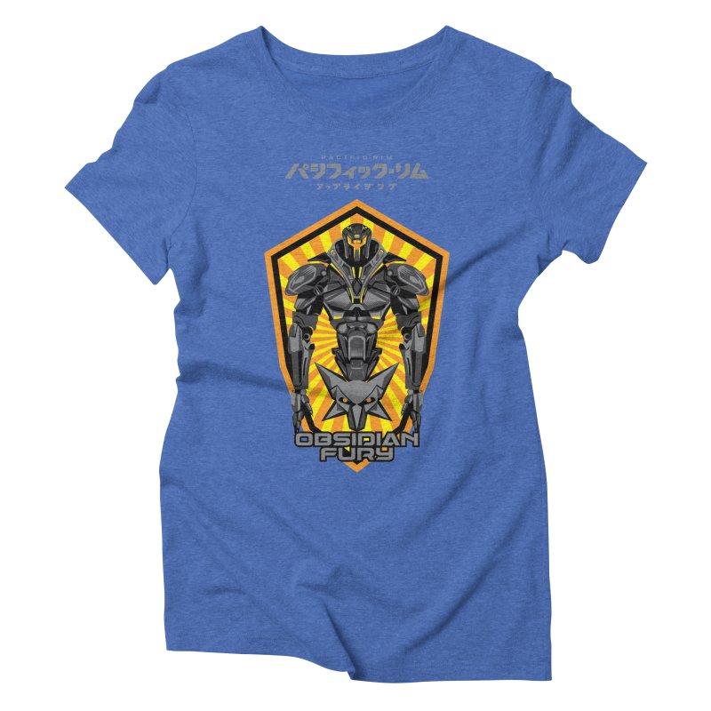 PACIFIC RIM : OBSIDIAN FURY JAEGER Women's Triblend T-Shirt by ALGS's Artist Shop