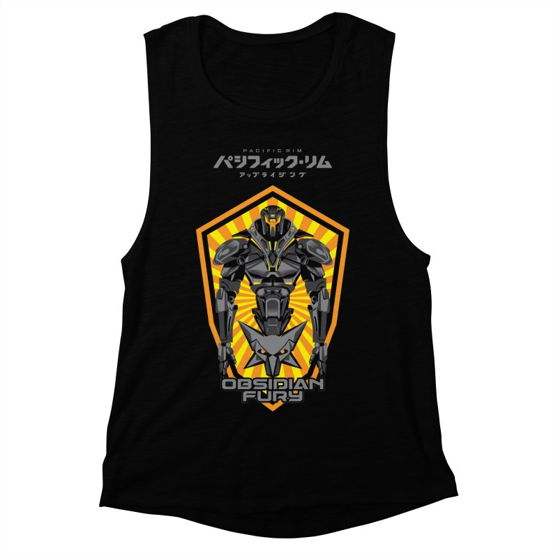 PACIFIC RIM : OBSIDIAN FURY JAEGER Women's Muscle Tank by ALGS's Artist Shop
