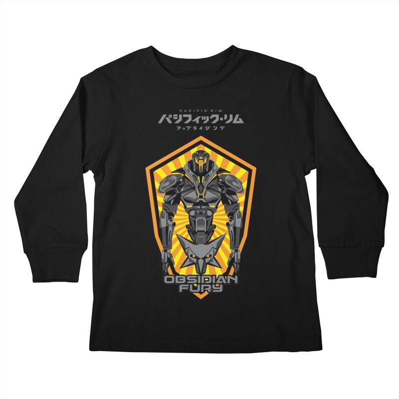 PACIFIC RIM : OBSIDIAN FURY JAEGER Kids Longsleeve T-Shirt by ALGS's Artist Shop