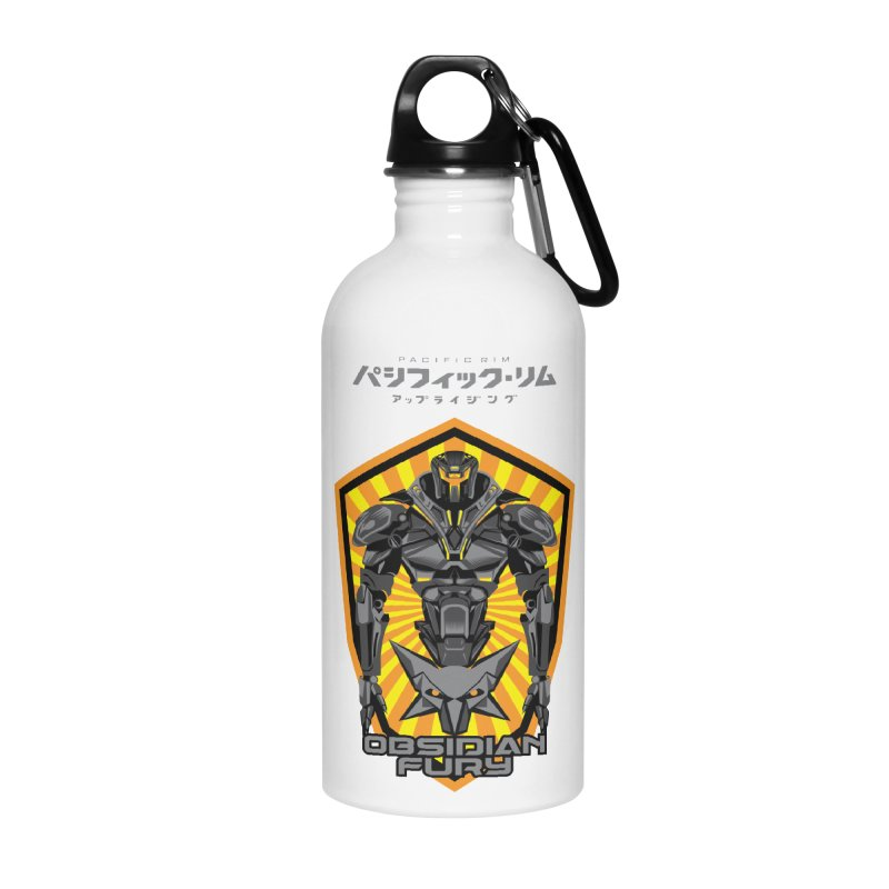 PACIFIC RIM : OBSIDIAN FURY JAEGER Accessories Water Bottle by ALGS's Artist Shop