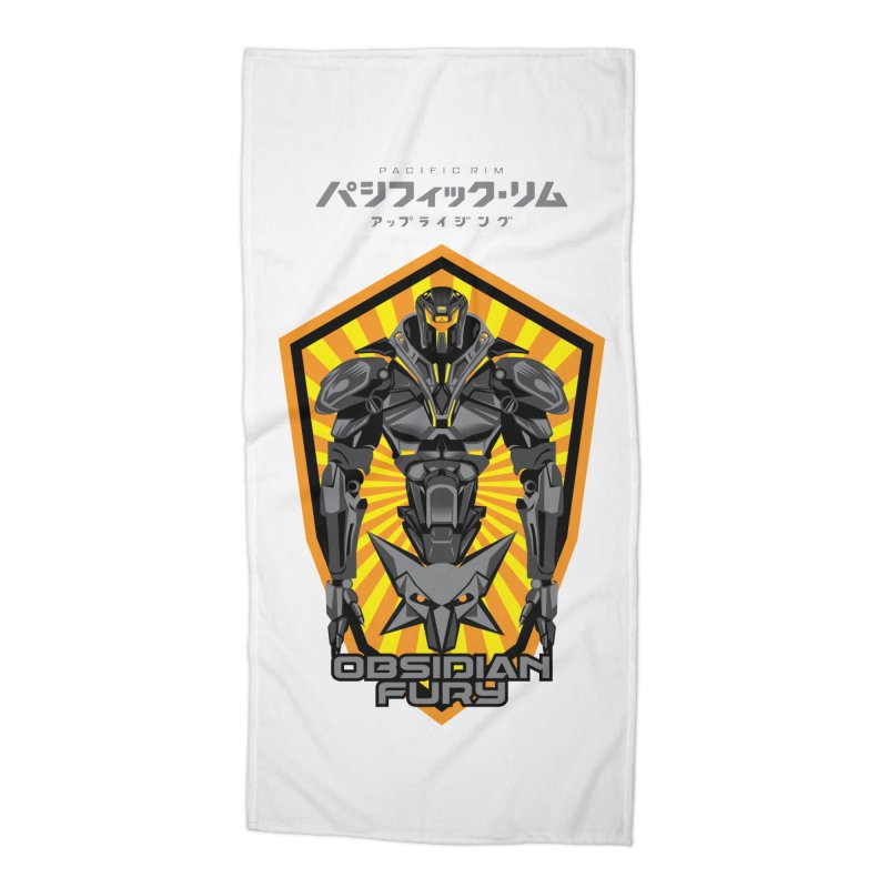 PACIFIC RIM : OBSIDIAN FURY JAEGER Accessories Beach Towel by ALGS's Artist Shop