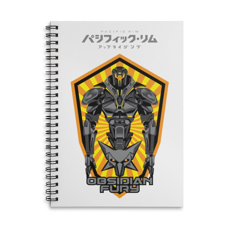 PACIFIC RIM : OBSIDIAN FURY JAEGER Accessories Lined Spiral Notebook by ALGS's Artist Shop