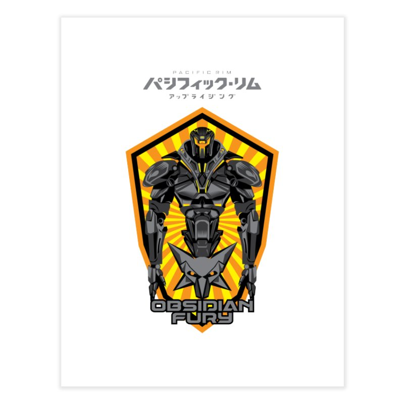 PACIFIC RIM : OBSIDIAN FURY JAEGER Home Fine Art Print by ALGS's Artist Shop