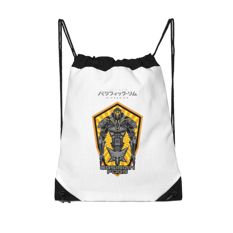 PACIFIC RIM : OBSIDIAN FURY JAEGER Accessories Drawstring Bag Bag by ALGS's Artist Shop