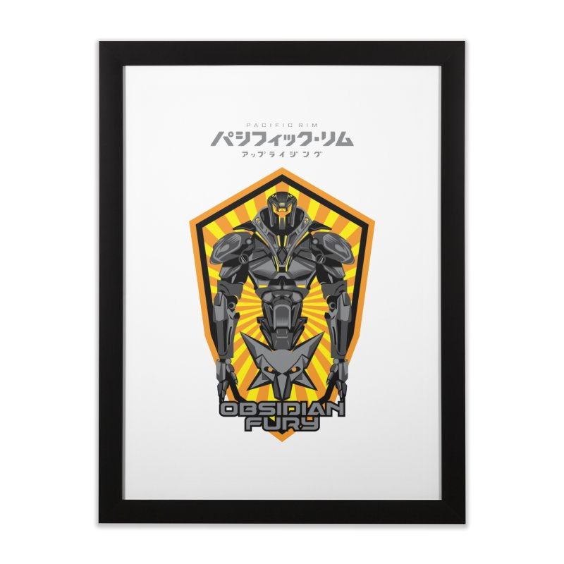 PACIFIC RIM : OBSIDIAN FURY JAEGER Home Framed Fine Art Print by ALGS's Artist Shop