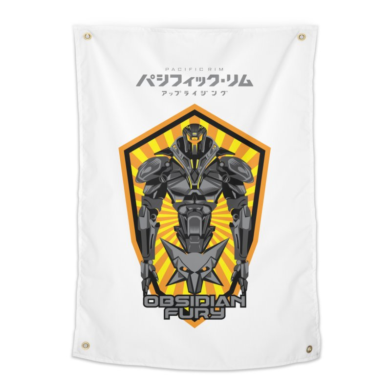 PACIFIC RIM : OBSIDIAN FURY JAEGER Home Tapestry by ALGS's Artist Shop