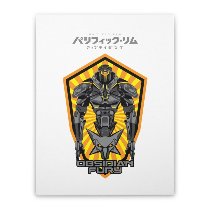 PACIFIC RIM : OBSIDIAN FURY JAEGER Home Stretched Canvas by ALGS's Artist Shop