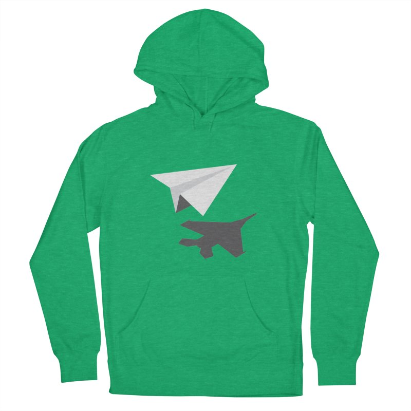 PAPERPLANE FIGHTER Women's French Terry Pullover Hoody by ALGS's Artist Shop