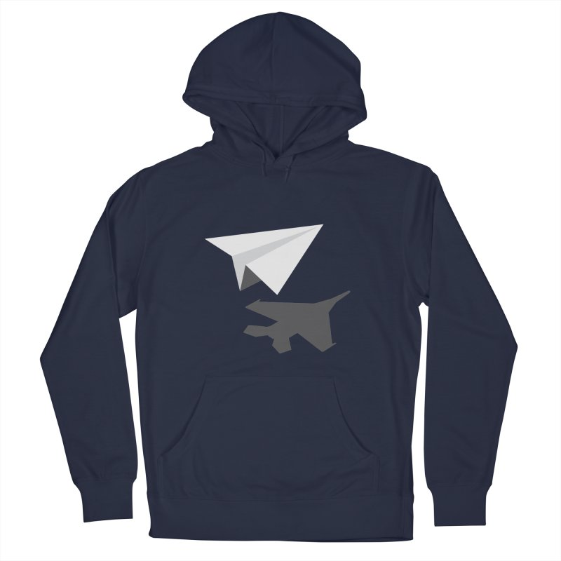 PAPERPLANE FIGHTER Men's French Terry Pullover Hoody by ALGS's Artist Shop
