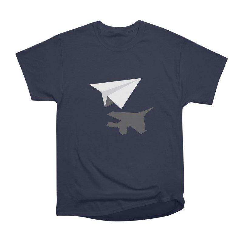 PAPERPLANE FIGHTER Men's Heavyweight T-Shirt by ALGS's Artist Shop