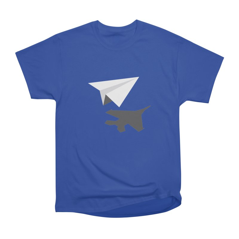 PAPERPLANE FIGHTER Men's Heavyweight T-Shirt by ALGS's Artist Shop