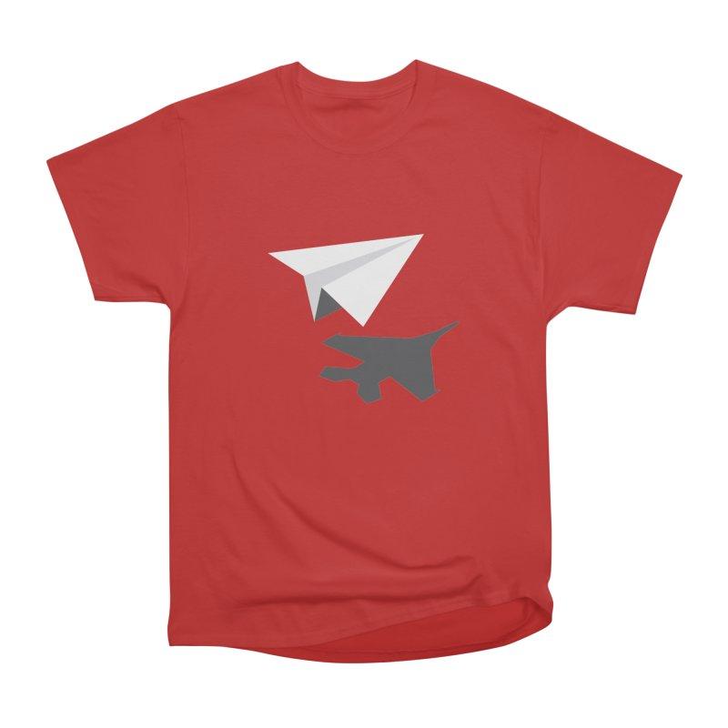 PAPERPLANE FIGHTER Women's Heavyweight Unisex T-Shirt by ALGS's Artist Shop