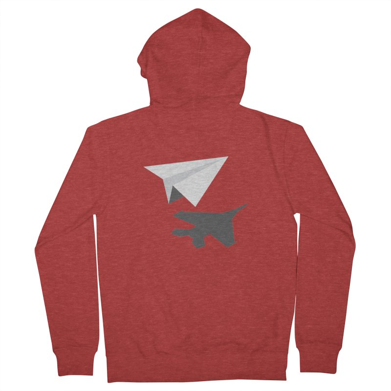 PAPERPLANE FIGHTER Women's French Terry Zip-Up Hoody by ALGS's Artist Shop
