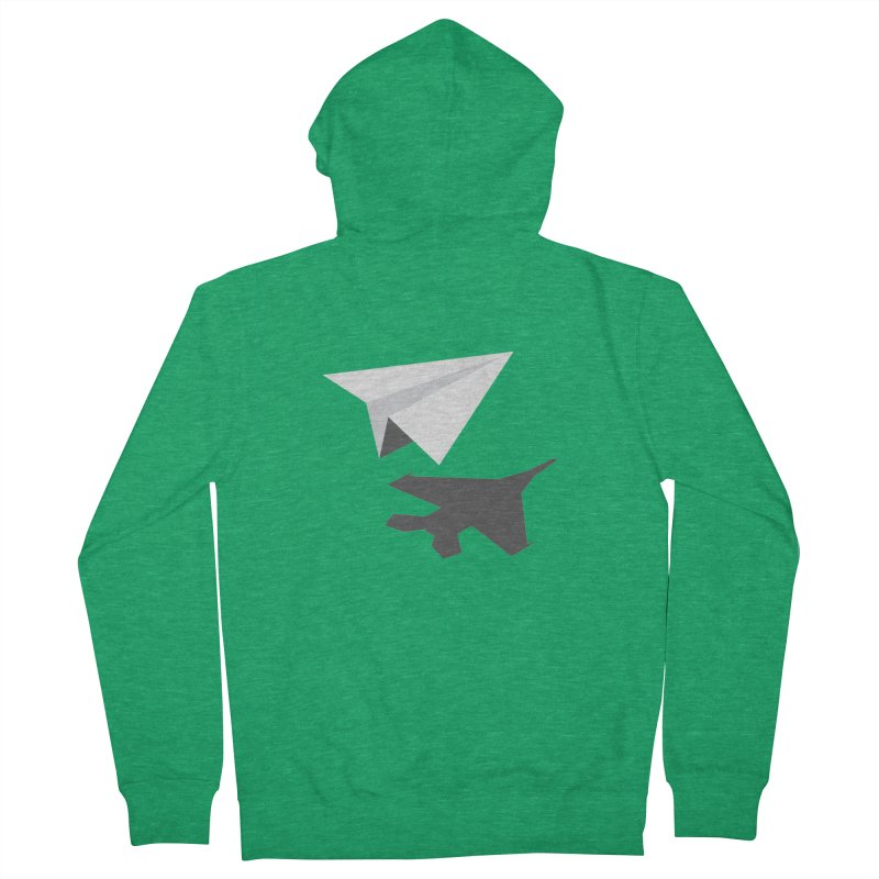 PAPERPLANE FIGHTER Men's French Terry Zip-Up Hoody by ALGS's Artist Shop