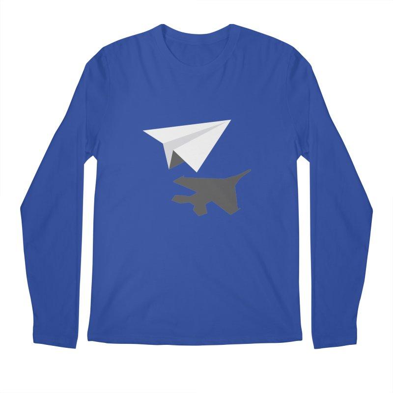 PAPERPLANE FIGHTER Men's Regular Longsleeve T-Shirt by ALGS's Artist Shop