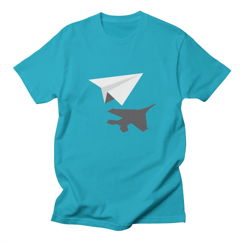 PAPERPLANE FIGHTER Men's Regular T-Shirt by ALGS's Artist Shop