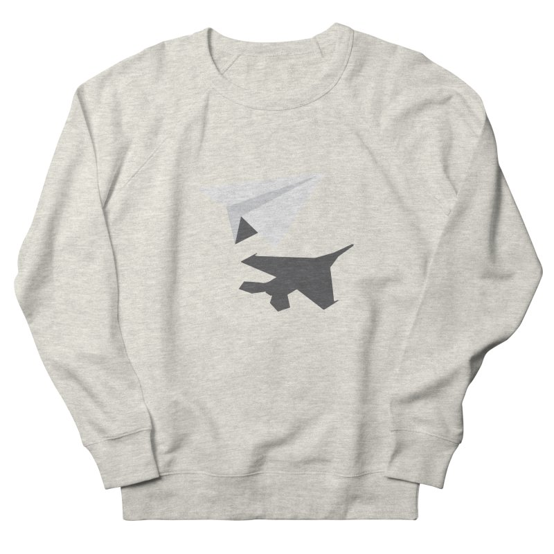 PAPERPLANE FIGHTER Women's French Terry Sweatshirt by ALGS's Artist Shop
