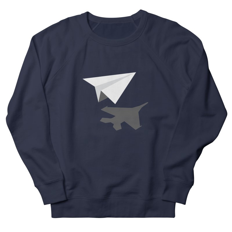 PAPERPLANE FIGHTER Men's French Terry Sweatshirt by ALGS's Artist Shop