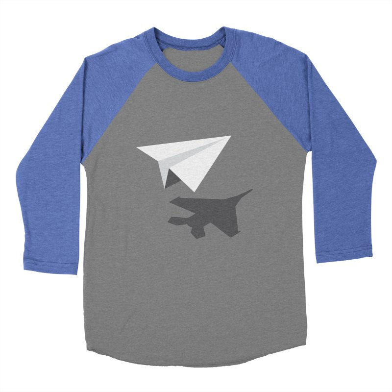 PAPERPLANE FIGHTER Women's Baseball Triblend Longsleeve T-Shirt by ALGS's Artist Shop