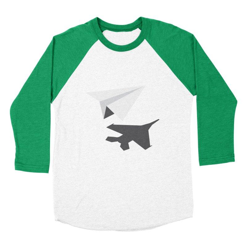 PAPERPLANE FIGHTER Men's Baseball Triblend Longsleeve T-Shirt by ALGS's Artist Shop