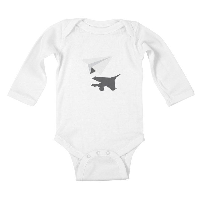 PAPERPLANE FIGHTER Kids Baby Longsleeve Bodysuit by ALGS's Artist Shop
