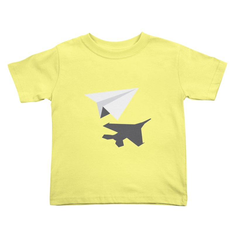 PAPERPLANE FIGHTER Kids Toddler T-Shirt by ALGS's Artist Shop