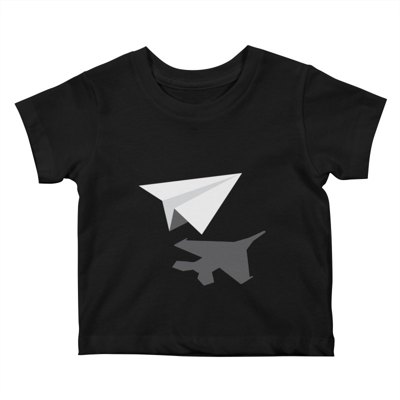 PAPERPLANE FIGHTER Kids Baby T-Shirt by ALGS's Artist Shop