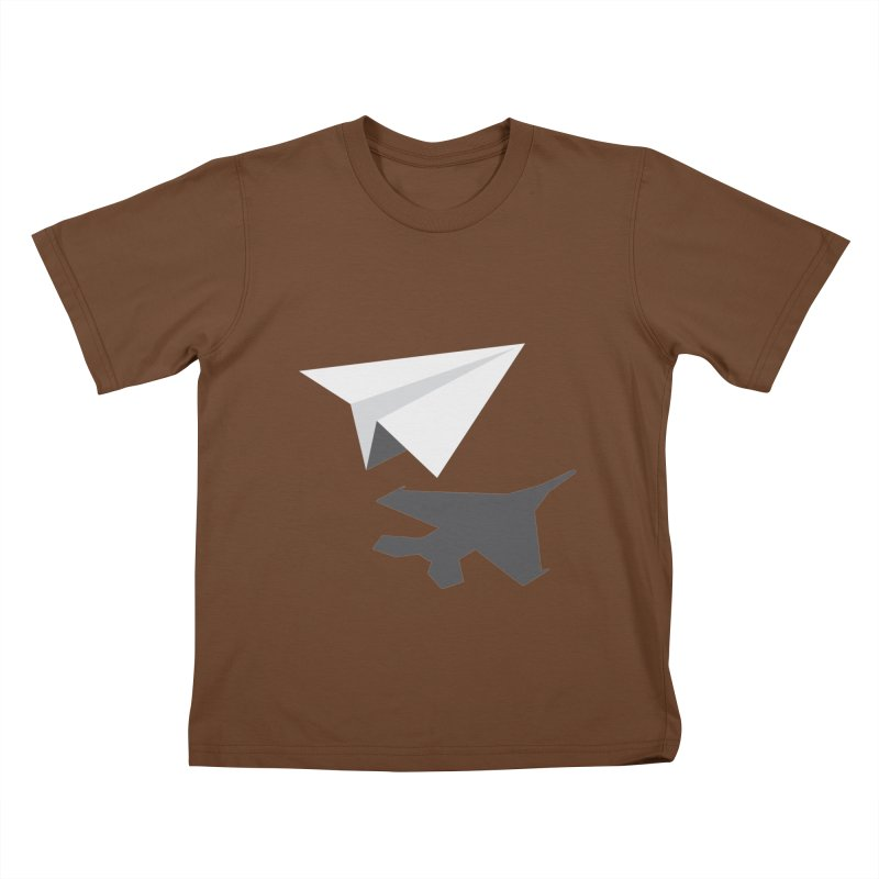 PAPERPLANE FIGHTER Kids T-Shirt by ALGS's Artist Shop