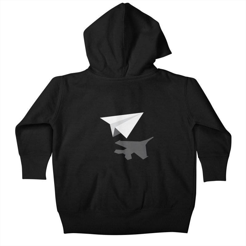 PAPERPLANE FIGHTER Kids Baby Zip-Up Hoody by ALGS's Artist Shop