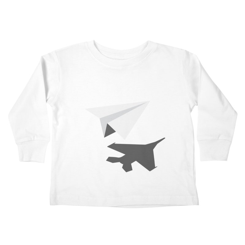 PAPERPLANE FIGHTER Kids Toddler Longsleeve T-Shirt by ALGS's Artist Shop