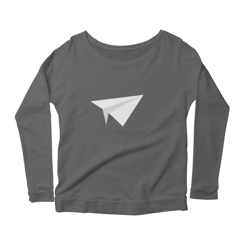PAPERPLANE FIGHTER Women's Scoop Neck Longsleeve T-Shirt by ALGS's Artist Shop