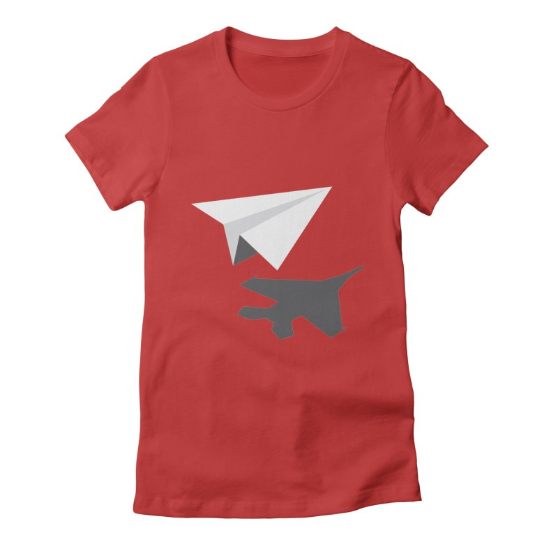 PAPERPLANE FIGHTER Women's Fitted T-Shirt by ALGS's Artist Shop