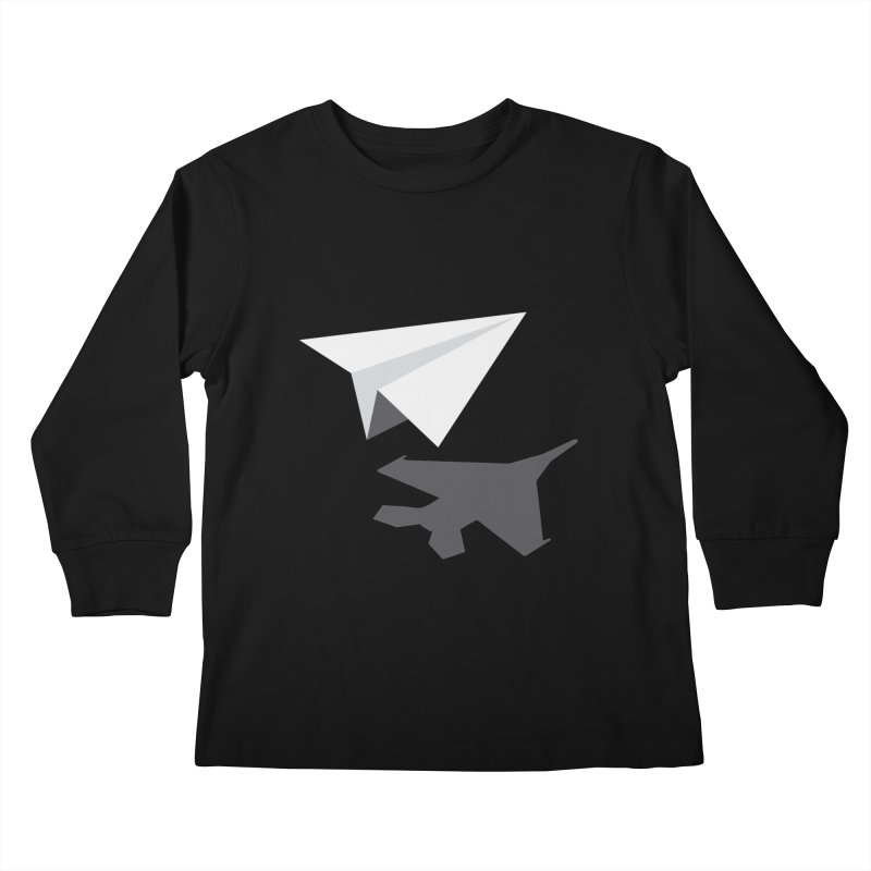 PAPERPLANE FIGHTER Kids Longsleeve T-Shirt by ALGS's Artist Shop