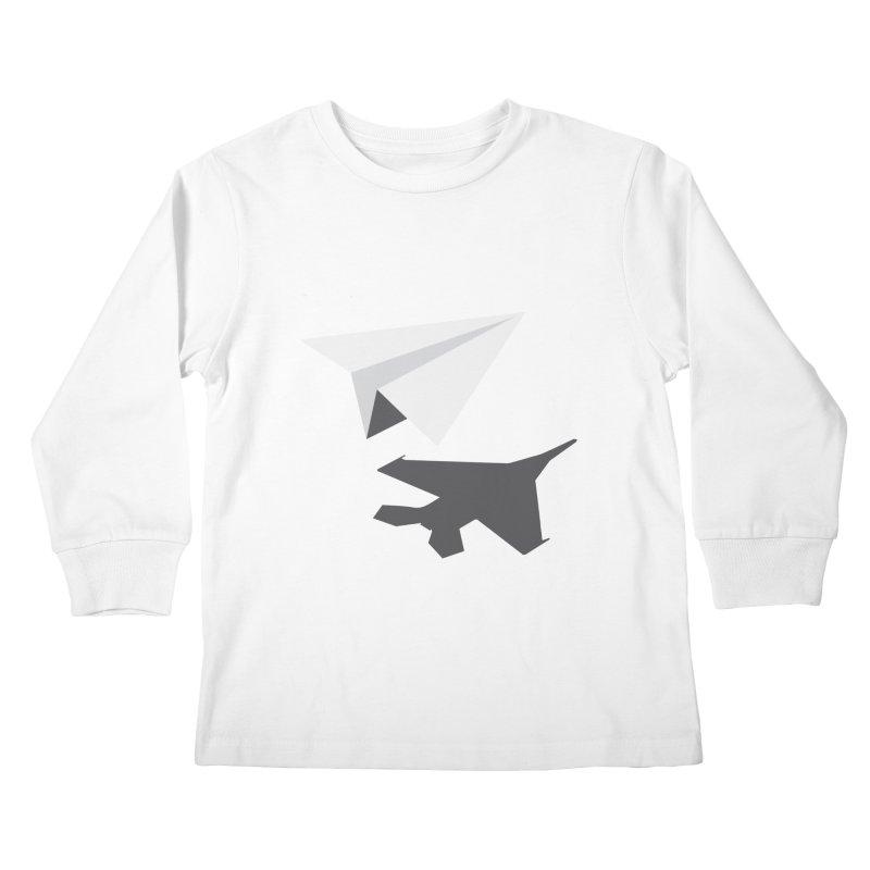 PAPERPLANE FIGHTER Kids Longsleeve T-Shirt by ALGS's Artist Shop